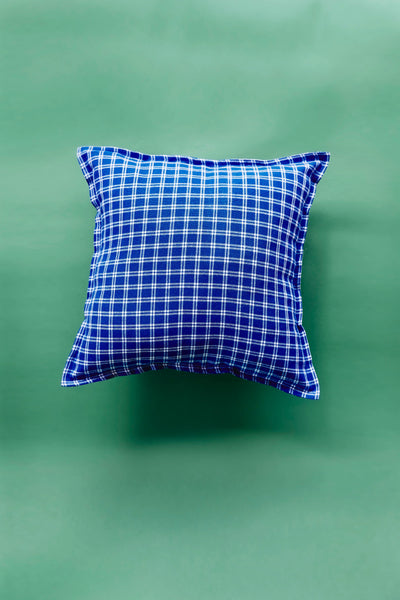 Blue + White Shuka cushion