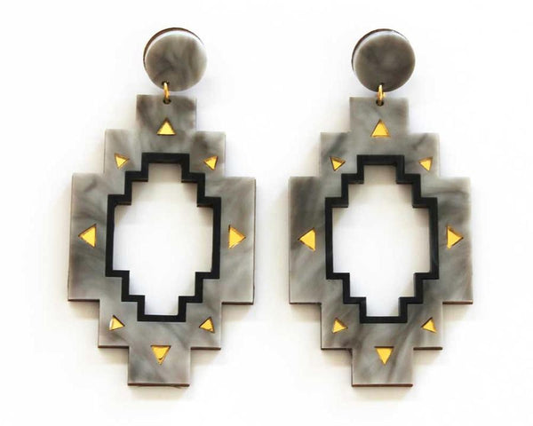 Tizita Earrings- Marble