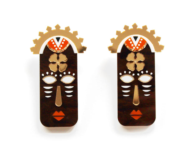 YOSOLA Earrings- Brown