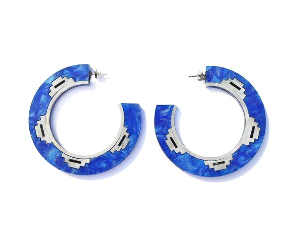 Zandi Earrings- Sapphire (Small)