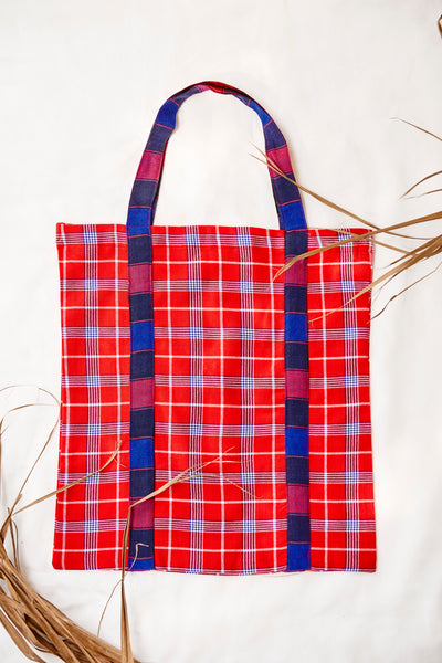 Kubeba Fanana + Red Tote Bag