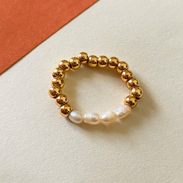 Bead Freshwater Pearl Ring