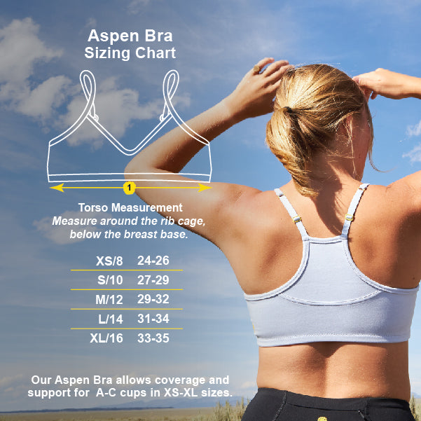 Aspen Bra Size Chart | Yellowberry