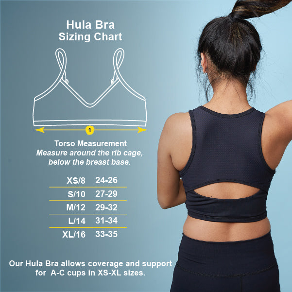 Hula Bra Sizing Chart | Yellowberry