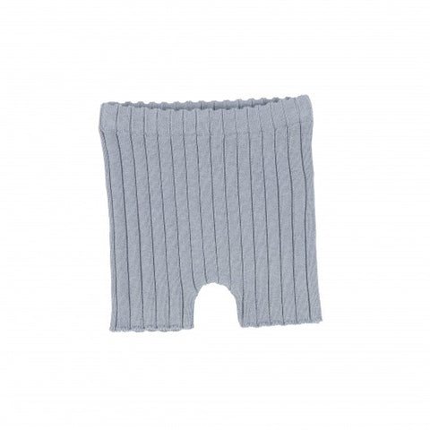 Analogie Blue Knit Shorts