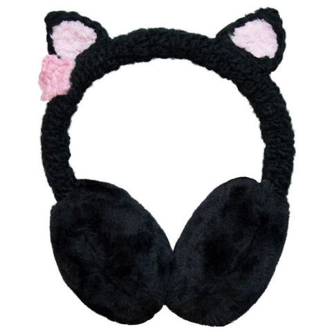 Cali Kids Cat Ear Earmuffs in Black