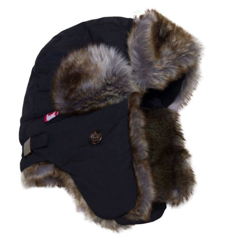 Cali Kids Waterproof Aviator Hat in Black
