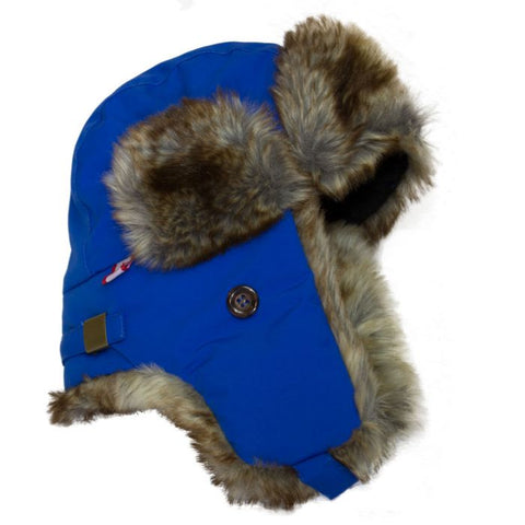 Cali Kids Waterproof Aviator Hat in Blue