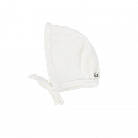 Lil Legs Winter White Velour Bonnet