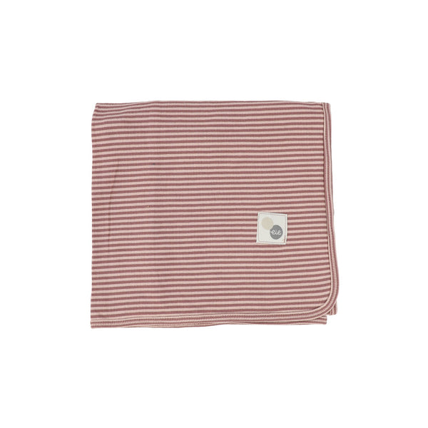 Lil Legs Mulberry Striped Blanket