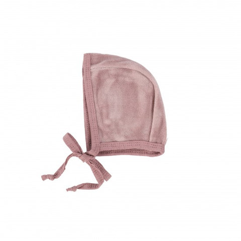 Lil Legs Blush Velour Bonnet