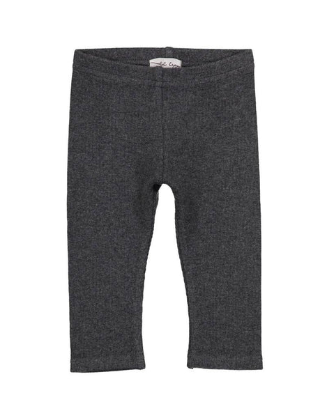 Lil Leggs Dark Heather Rib Legging