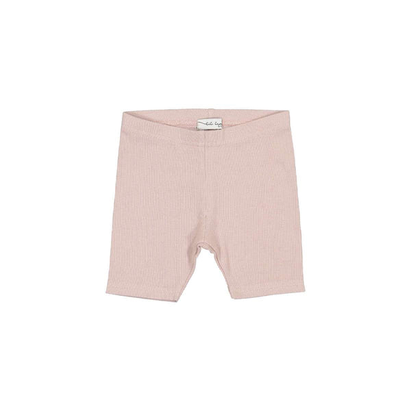 Lil Legs Ribbed Shorts in Mauve