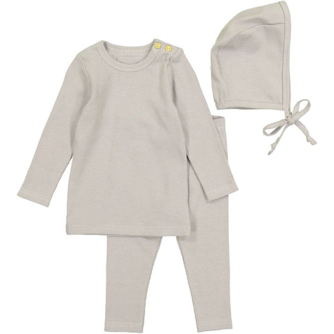 Lil Legs Grey Ribbed Set