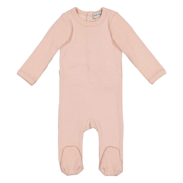 Lil Legs Pink Ribbed Footie