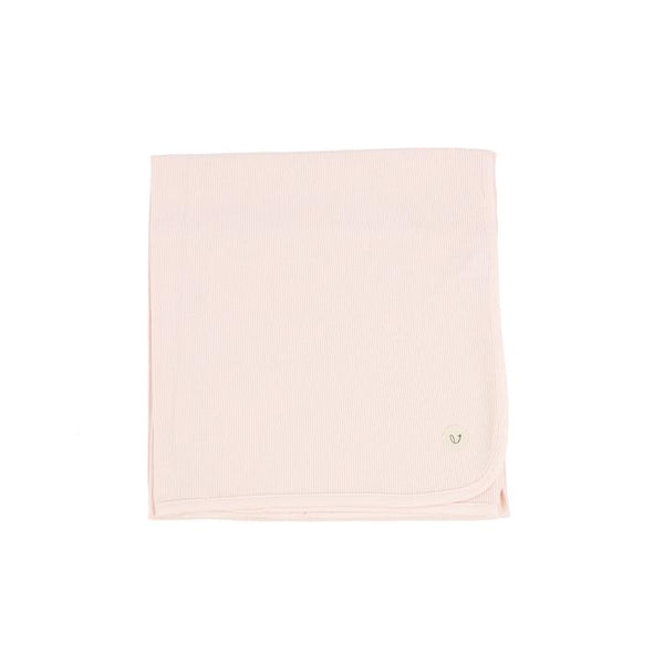 Lilette Pale Pink Ribbed Classic Blanket
