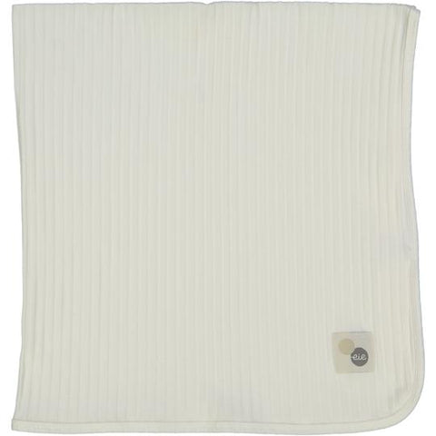 Analogie Winter White Wide Rib Blanket