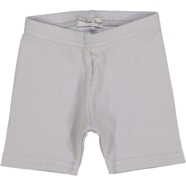 Lil Legs Ribbed Shorts in Light Grey