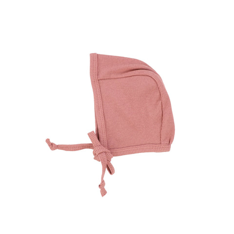 Lilette Peachy Pink Ribbed Classic Bonnet
