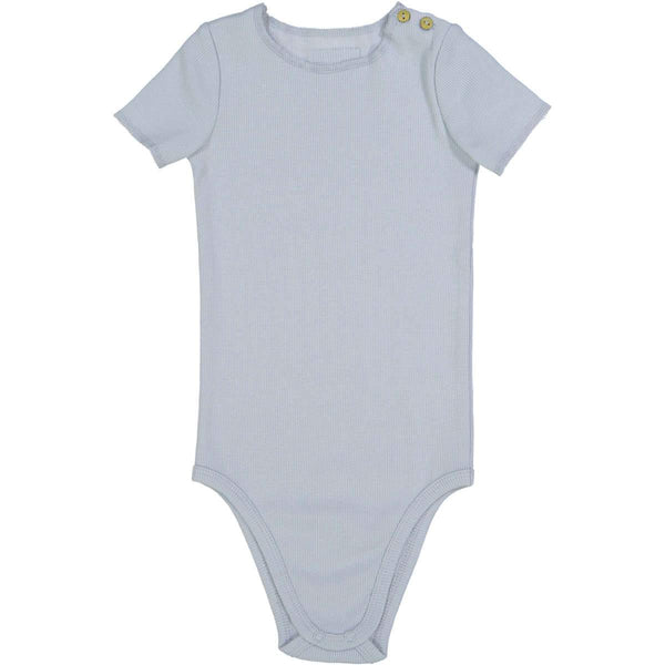 Lil Legs Light Blue Ribbed Onesie