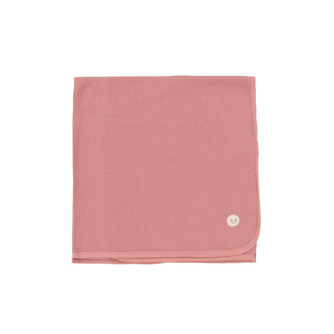 Lilette Peachy Pink Ribbed Classic Blanket