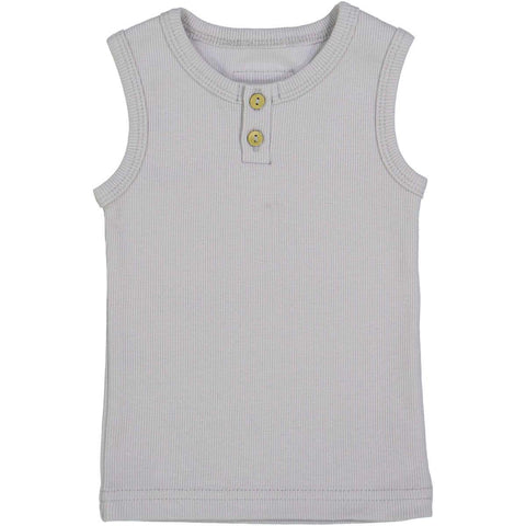 Lil Legs Light Grey Ribbed Tank