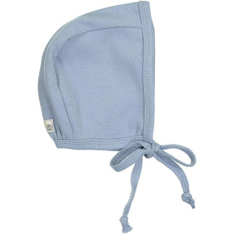 Lil Legs Soft Blue Rib Bonnet