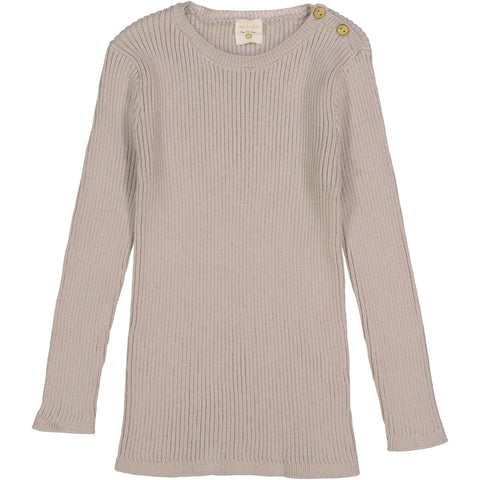 Analogie by Lil Legs Sand Ribbed Knit LS Top