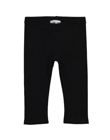 Lil Leggs Rib Leggings in Black