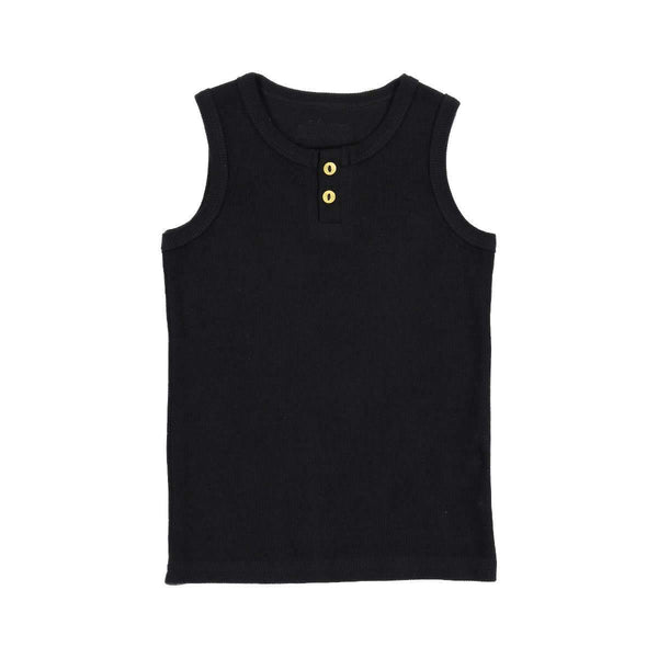 Lil Legs Black Ribbed Tank