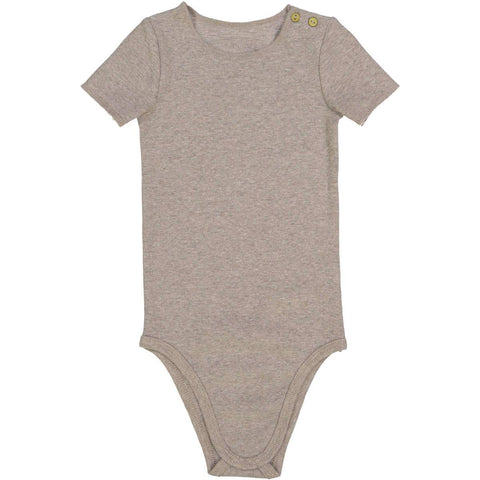 Lil Legs Oatmeal Ribbed Onesie