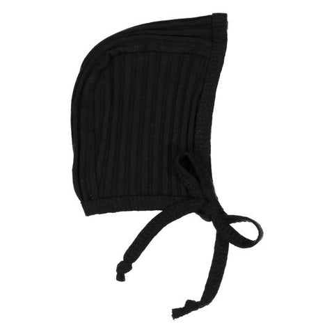 Analogie Black Wide Rib Bonnet