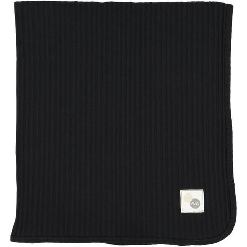 Analogie Black Wide Rib Blanket