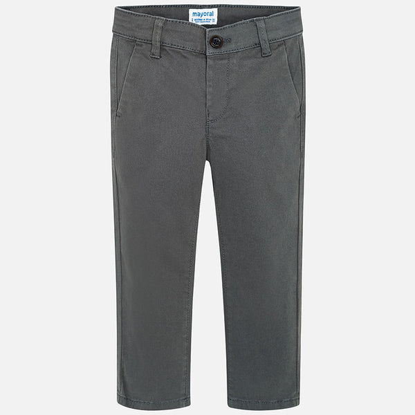 Mayoral Basic Twill Pants in Stone Grey