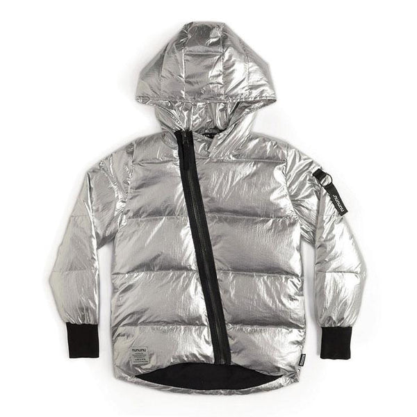 Nununu Silver Shiny Smile Down Jacket