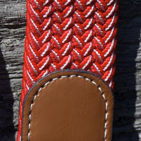 Red with White Stretch Belt