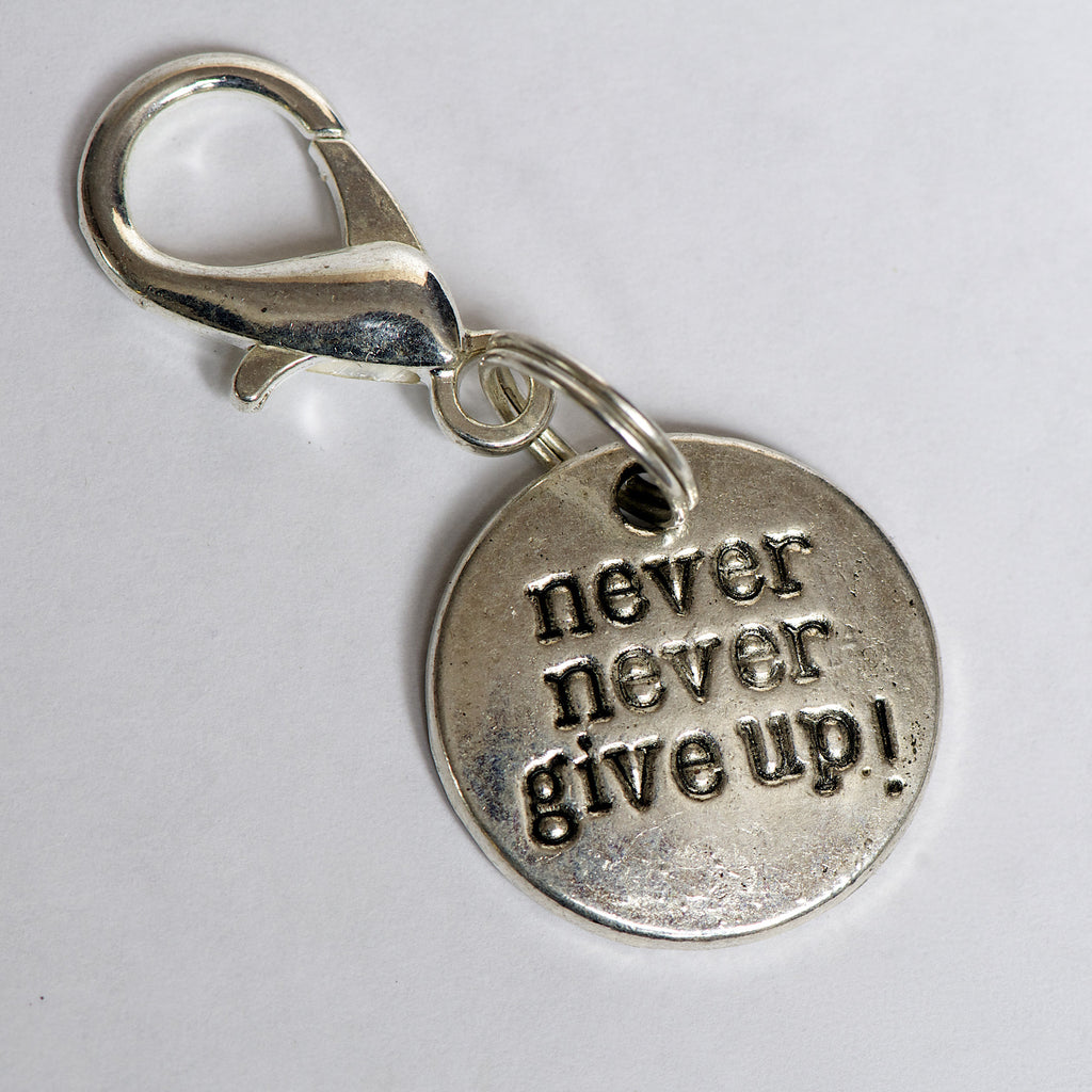 Never Never Give Up Charm