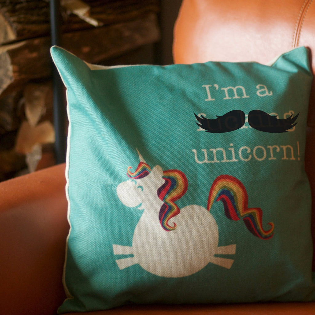 I'm a F***ing Unicorn - Cushion Cover including Insert