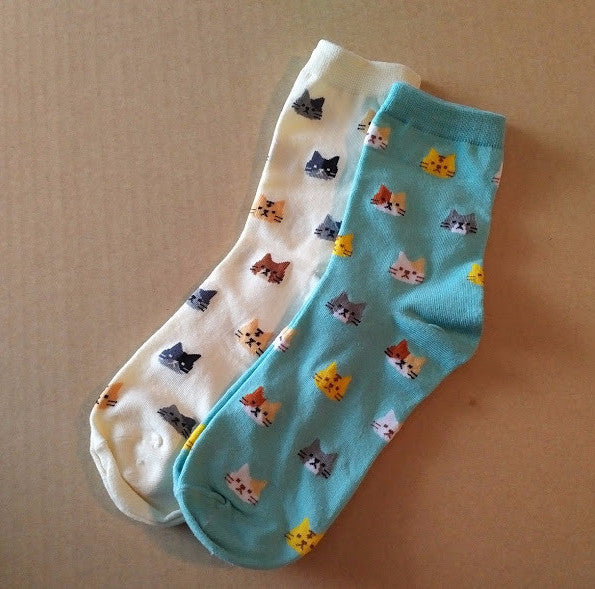 Barn Cat Crew Socks