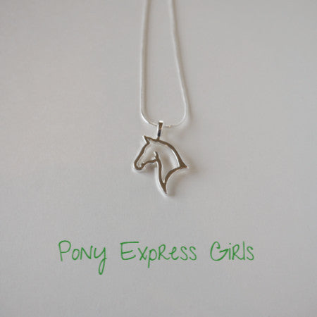 Horse Head Silhoutte Necklace - Pony Express Girls