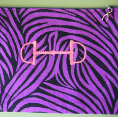 Lucky Ringside Tote - Zebra Print - Pony Express Girls