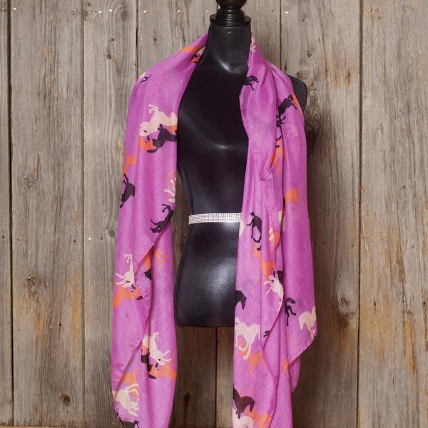 Essential Equestrian Scarf - Orchid - Pony Express Girls
