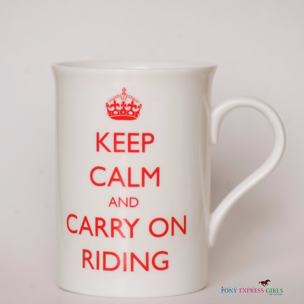 Horse Mug - Keep Calm & Carry On Riding - Pony Express Girls