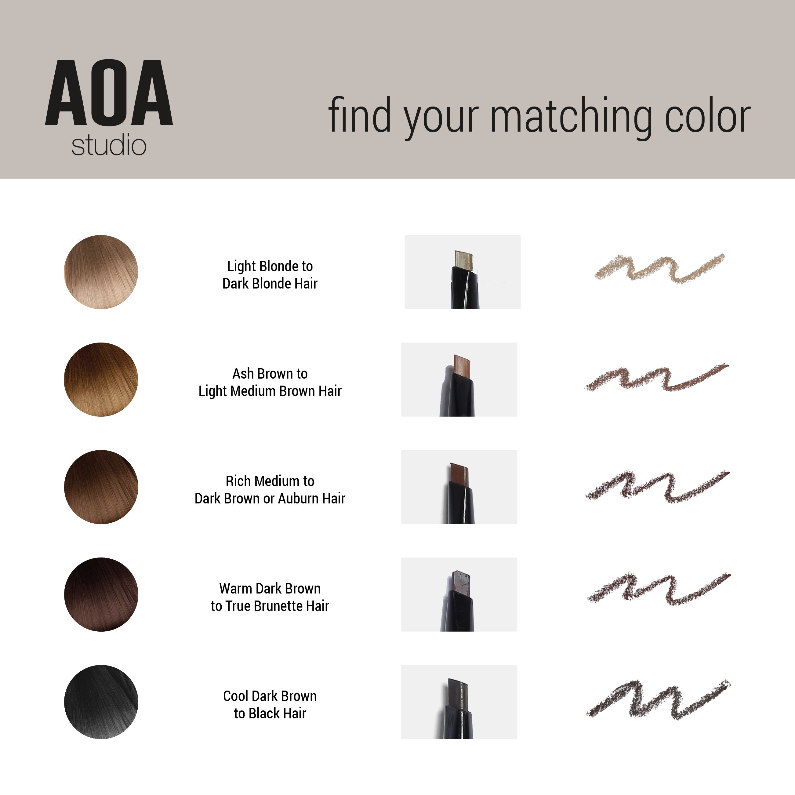 Aoa Sculpting Brow Pencil Ebony Shop Miss A