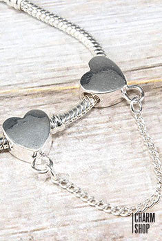 Heart Screw Safety Chain Bead Charm