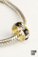 Two Tone Crystal Bead Charm