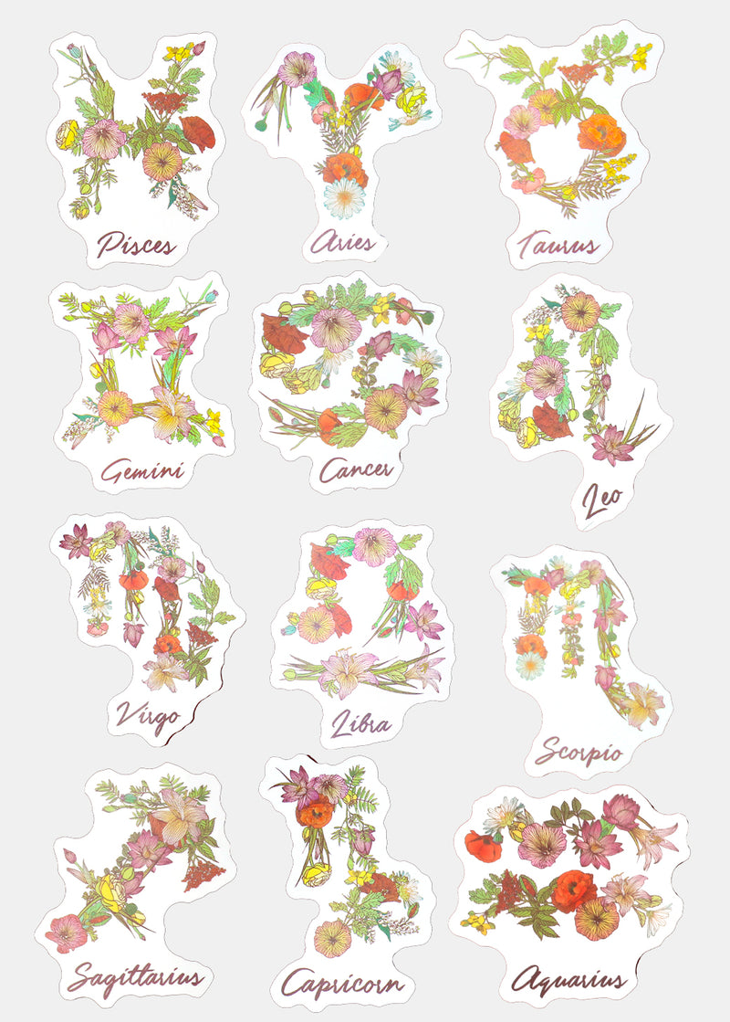 OKI Sticker- Gemini Flower Zodiac