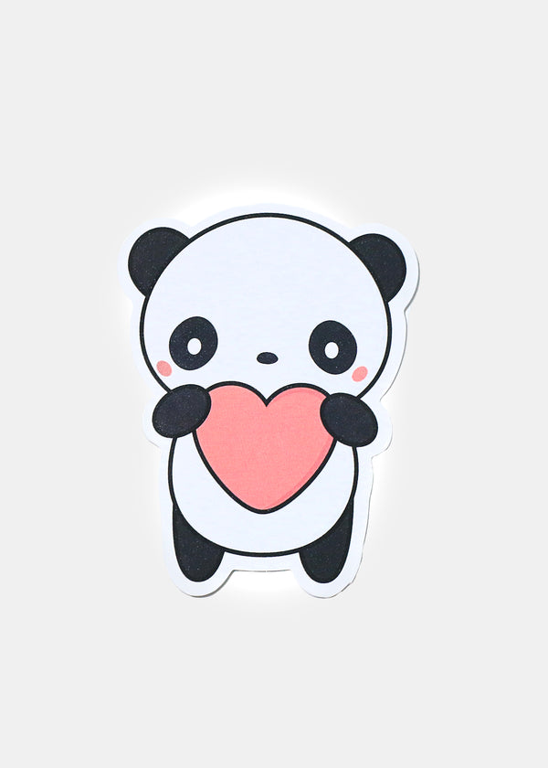 Oki Sticker- Heart Panda