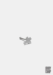 Sterling Silver Cross Nose Stud