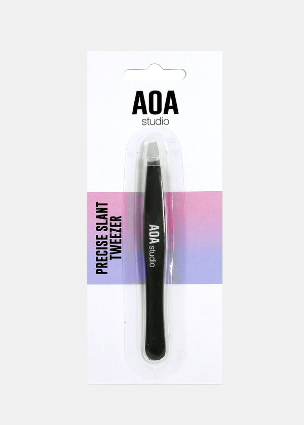 AOA Precision Slant Tweezer - Black